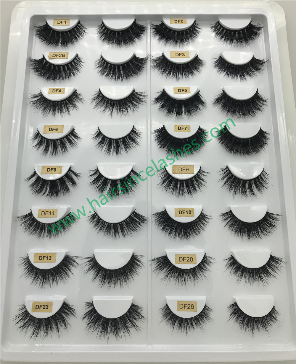 Mink hair lashes 3D styles natural styles 3D curls wholesale price - 副本 - 副本