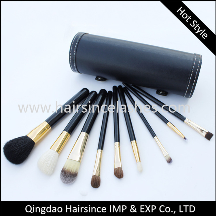 Synthetic hair quality makeup brushes can be made logo wholesale price