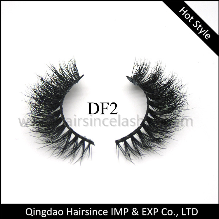 3D mink hair lashes natural curls with full shape wholesale price