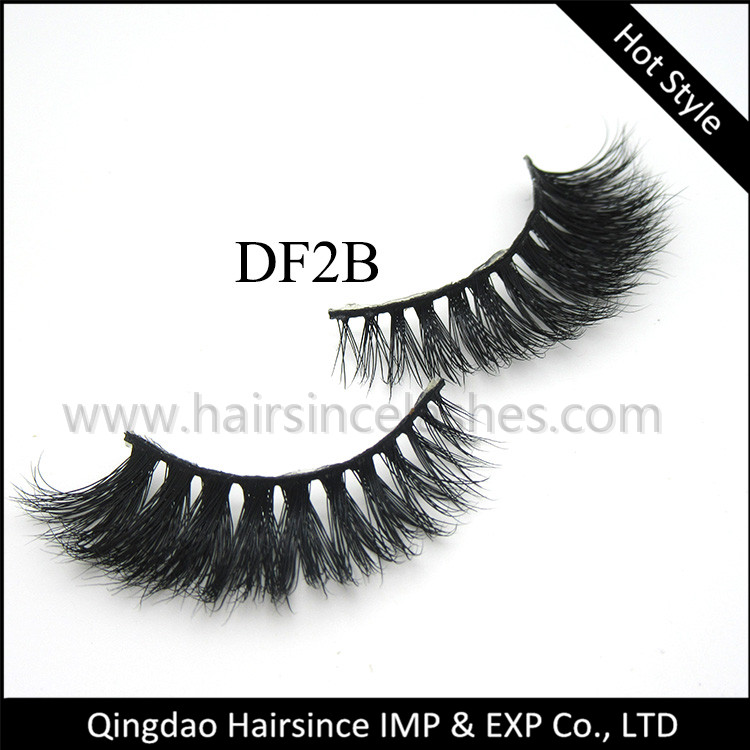 Cheap price normal styles 3D mink lashes, horse hair lashes, silk hair lashes from Alibaba