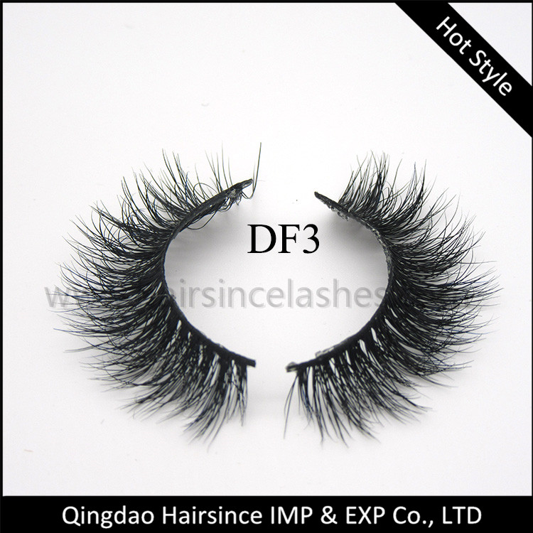 Super quality mink hair lashes 3D curls, free package design, free sample available