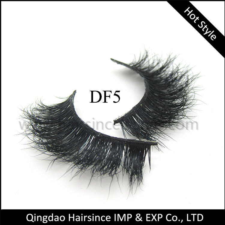 Natural curls 3D mink hair lashes, 25 times more mink hair lashes, human hair lashes sample available