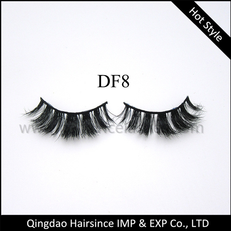Good price Alibaba mink hair lashes 3D style, horse hair lashes, silk hair lashes for sale