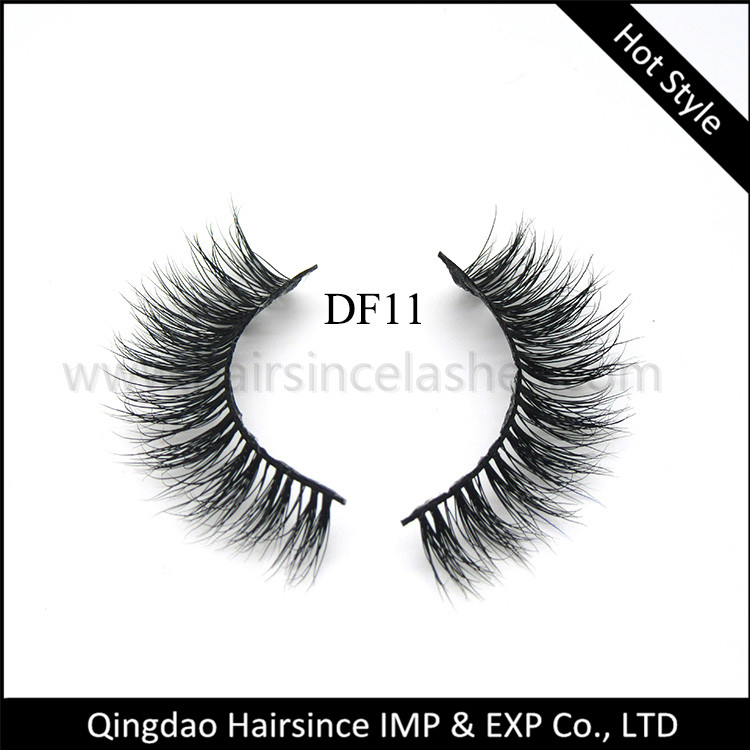 New lashes products 3D mink hair lashes with natural 3D curls from Alibaba