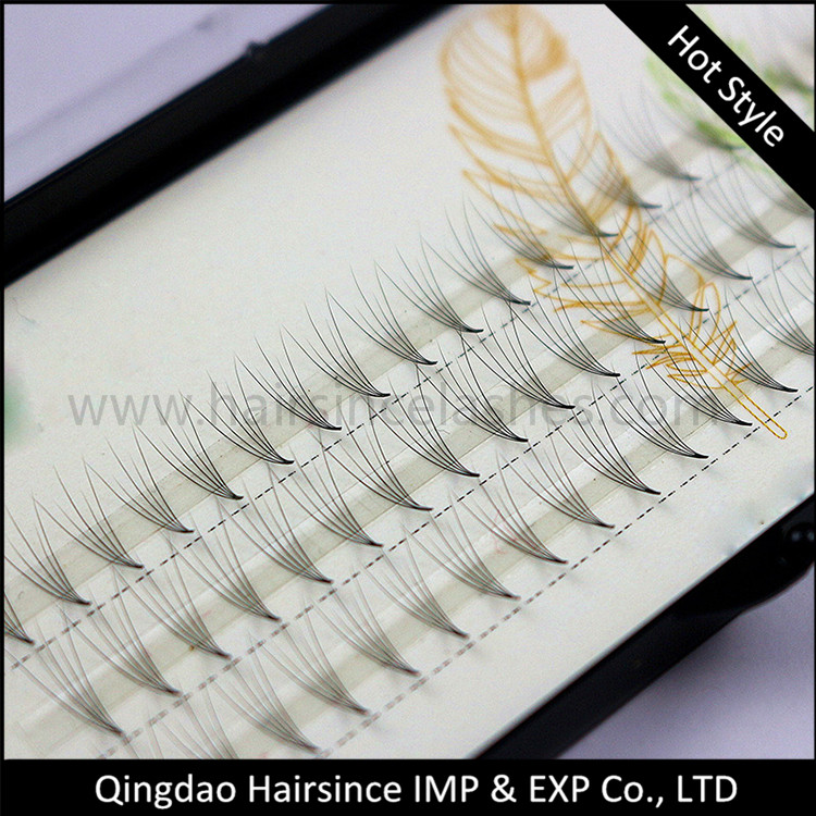 Professional flare lash extension, cluster lashes, silk hair lashes J B C D curls wholesale price