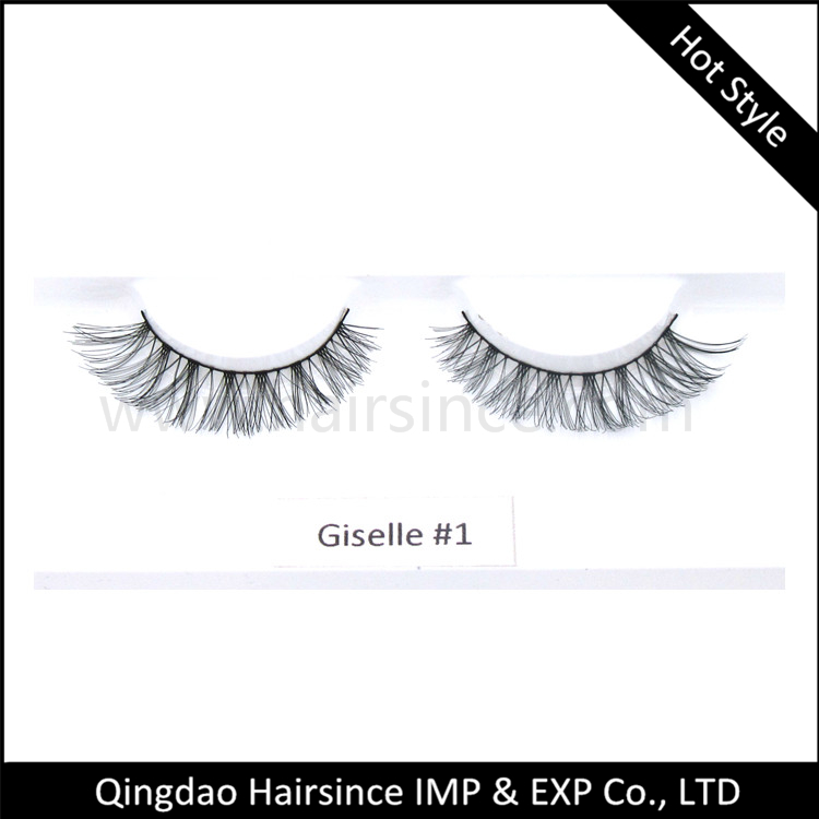 Crossed style handtied synthetic hair lashes silk hair lashes red cherry lashes wholesale price