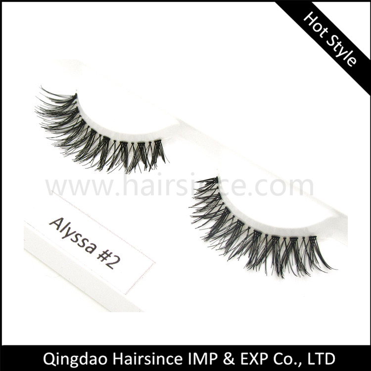 Cheap price synthetic hair lashes 100% handtied mink hair lashes 3D mink hair lashes human hair lashes supplier