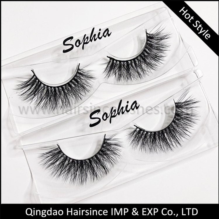 Eyelashes package free logo sticker 3D synthetic hair lashes 3D mink hair lashes wholesale price