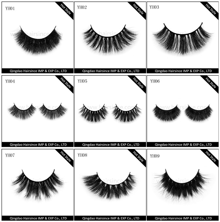 Various style horse hair lashes, eyelash for women thick style lashes, quality horse hair eyelashes on sale