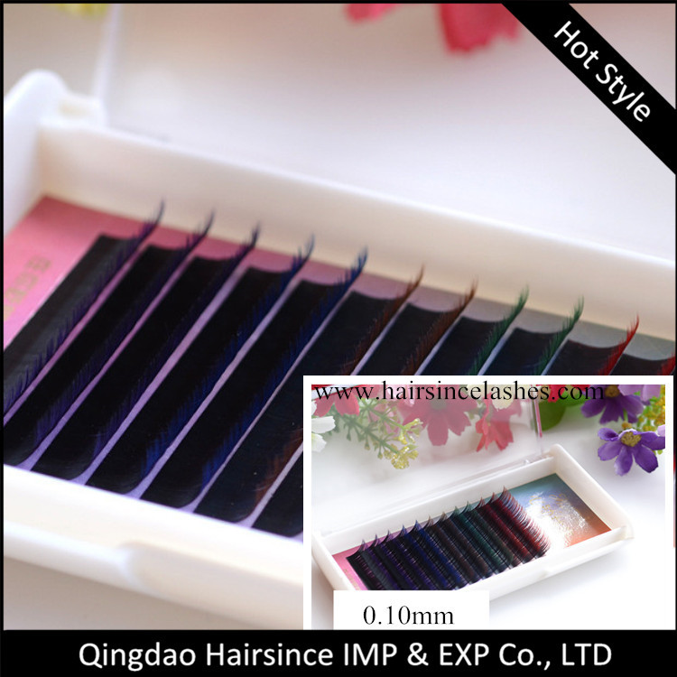Popular style two tone ombre color individual eyelashes extensions wholesale price