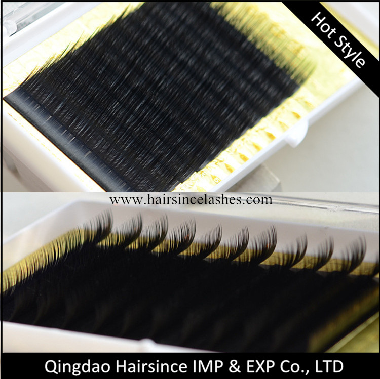 High quality natural curls fake mink hair individual eyelashes extensions wholesale price
