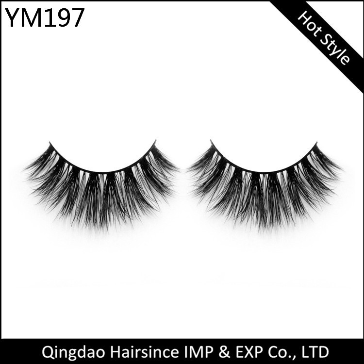 2018 High quality 3D mink eyelashes and custom private label eyelash packaging box