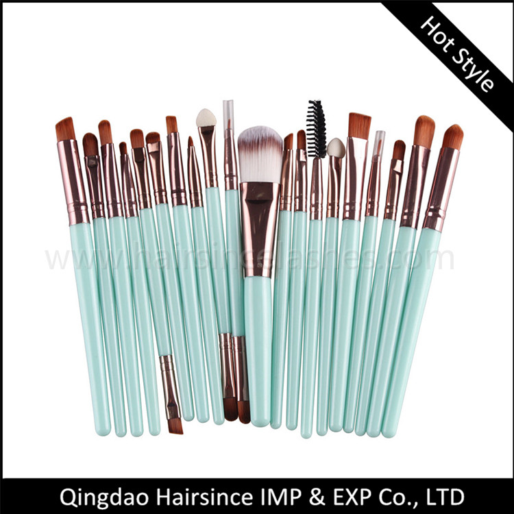 20 pcs makeupo brushes cheap price on sale quality silk hair material brushes for sale