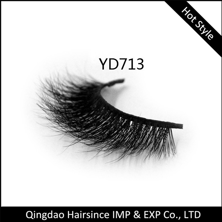 Quality 100% mink fur eyelashes 3D style with sexy curls and design free design eyelashes package box for sale