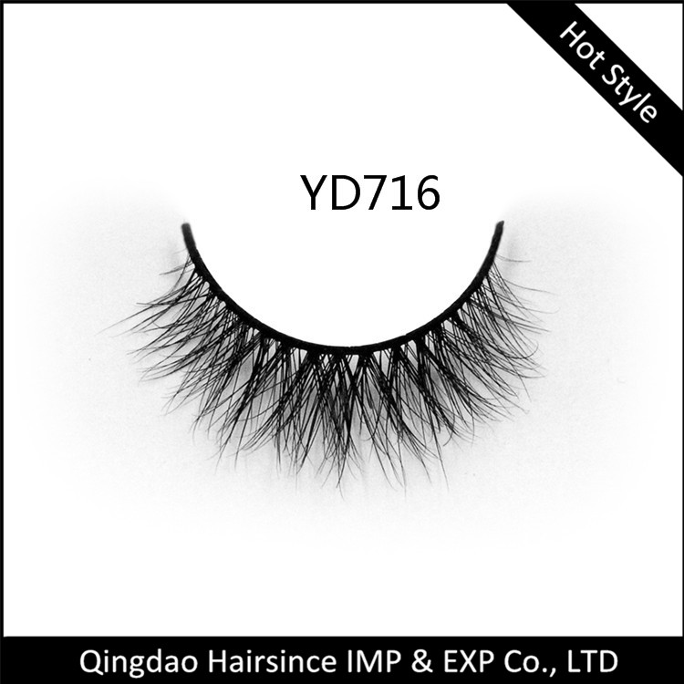 3D mink hair eyelashes logo brand customized eyelashes package wholesale price