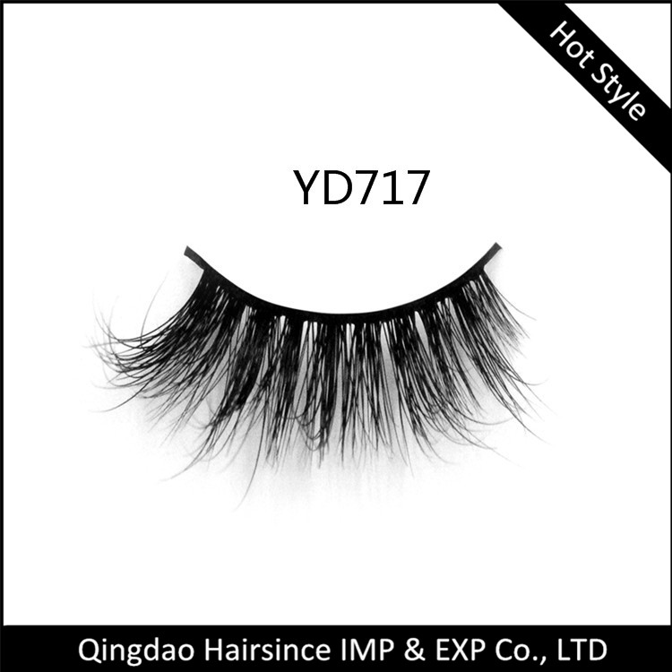 New popular style 3D mink hair lashes free logo design with package for sale