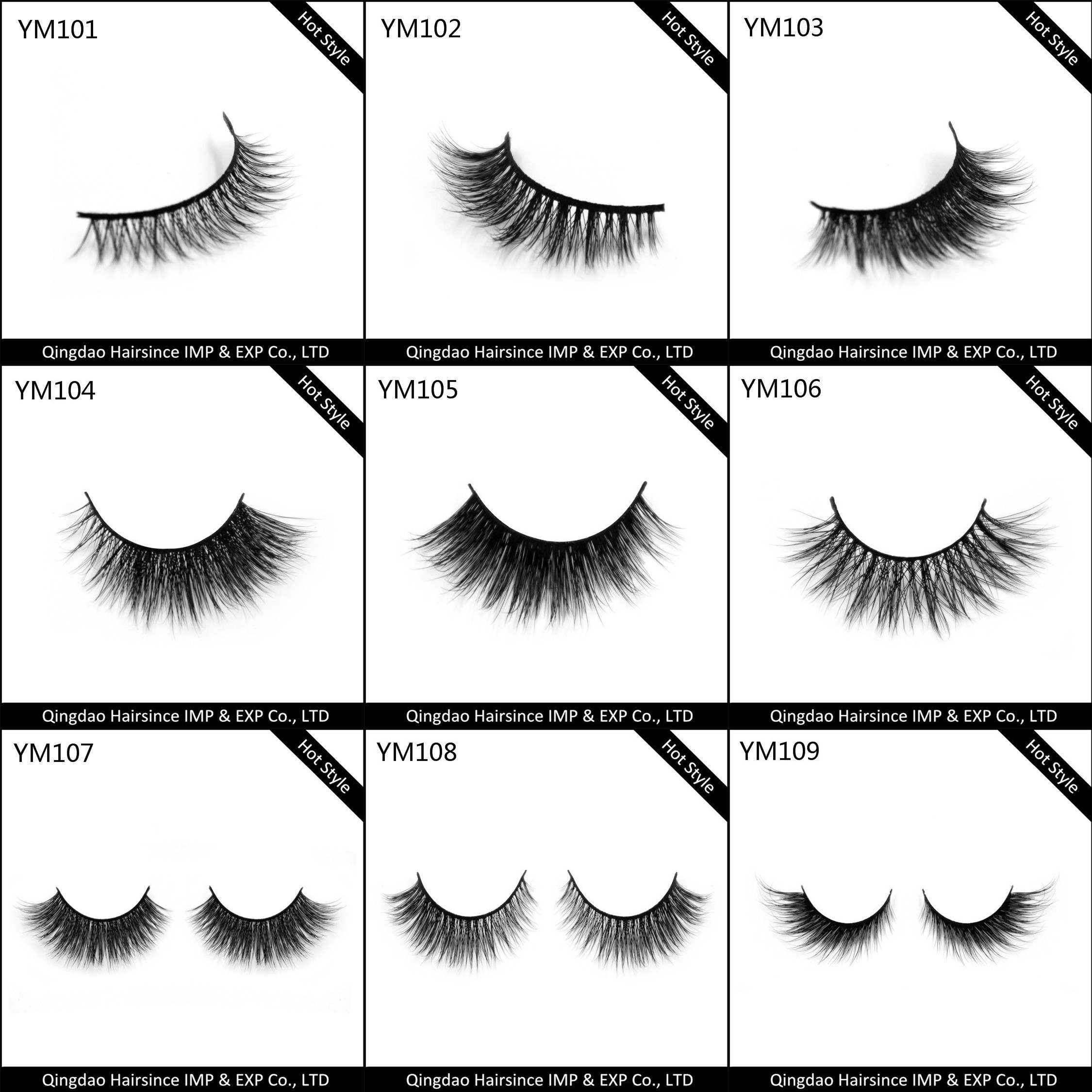 Factory of top quality mink hair lashes with natural curls reusable more than 25 times free design lashes package