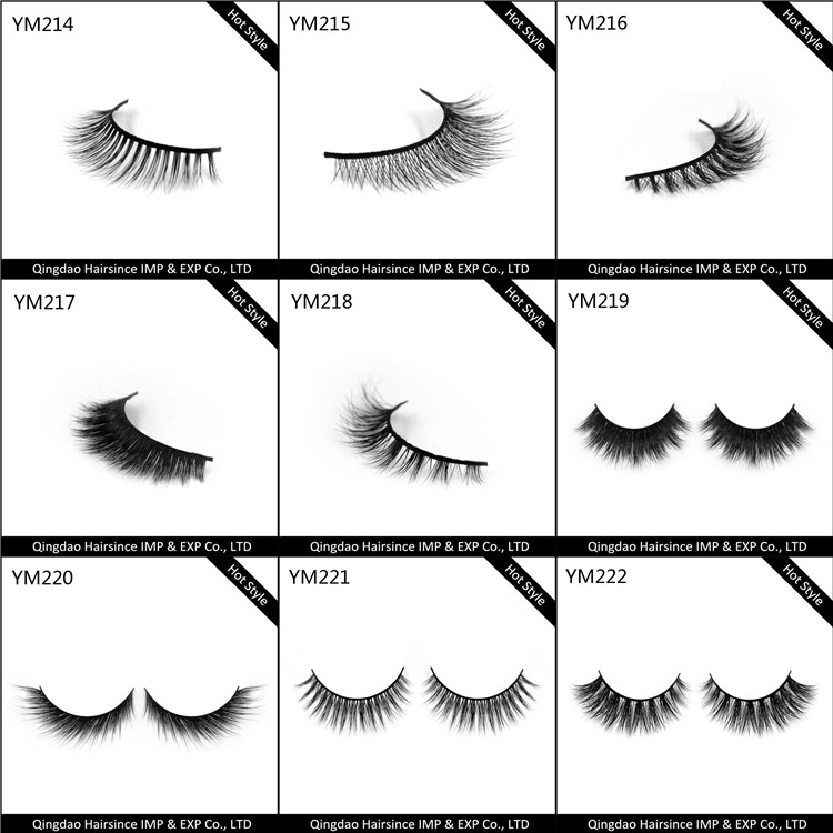Aliexpress popular styles mink hair eyelash customized package acceptable free design