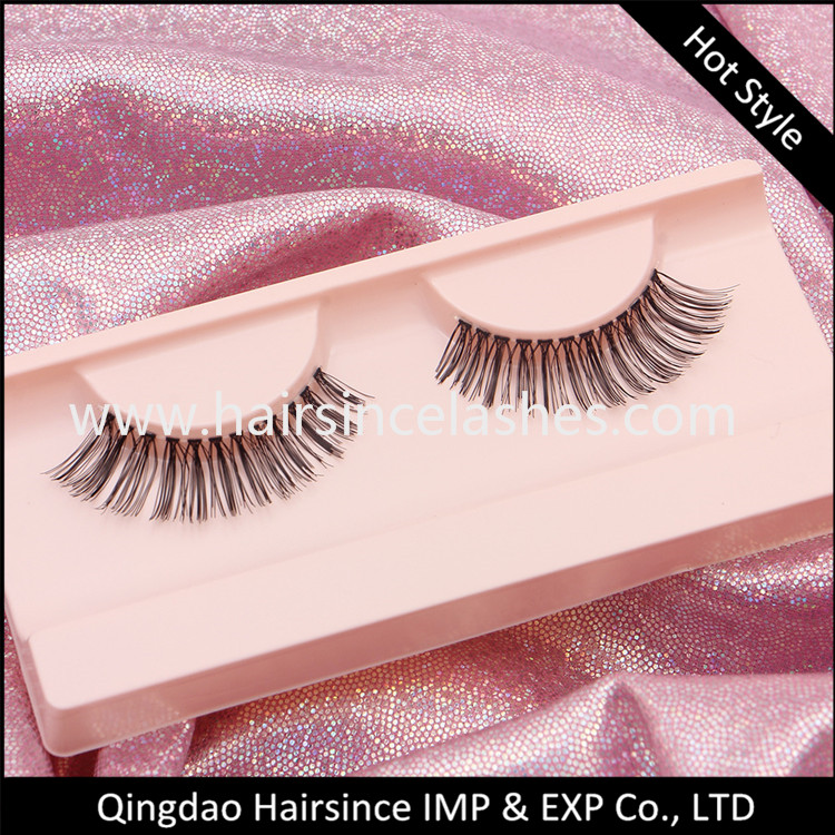 High quality silk hair material lashes, faux human hair lashes, mink hair lashes, 3D mink lashes free sample