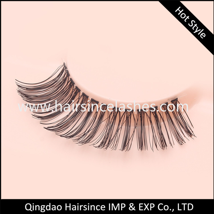 Hot styles silk hair lashes faux human hair lashes wholesale price