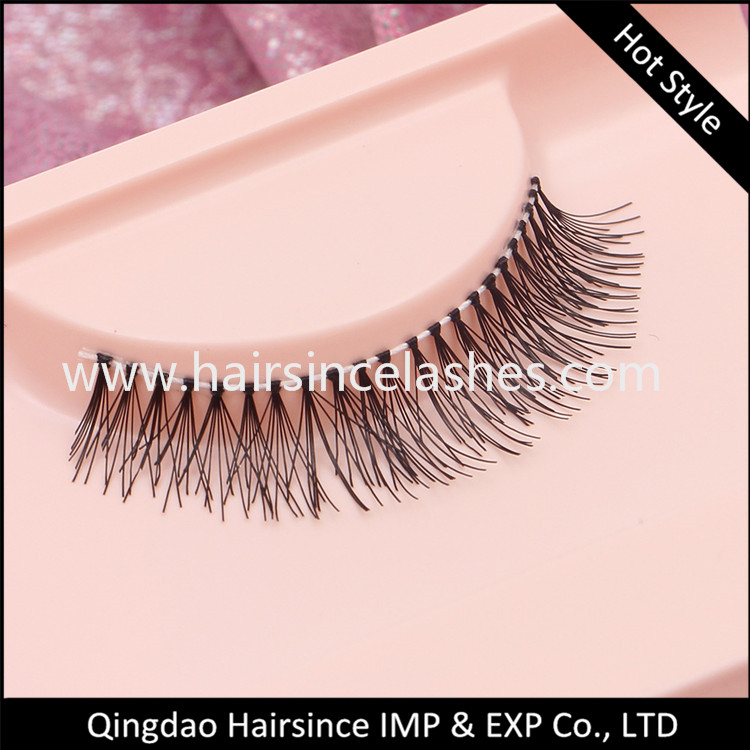 Cheap price hand tied silk hair lashes customized package faux human hair lashes from Alibaba