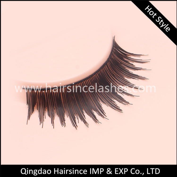 Popular style faux human hair lashes mink hair lashes human hair lashes available