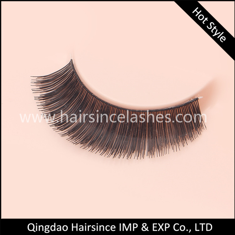 Thick faux human hair lashes silk hair lashes make customized package from Alibaba