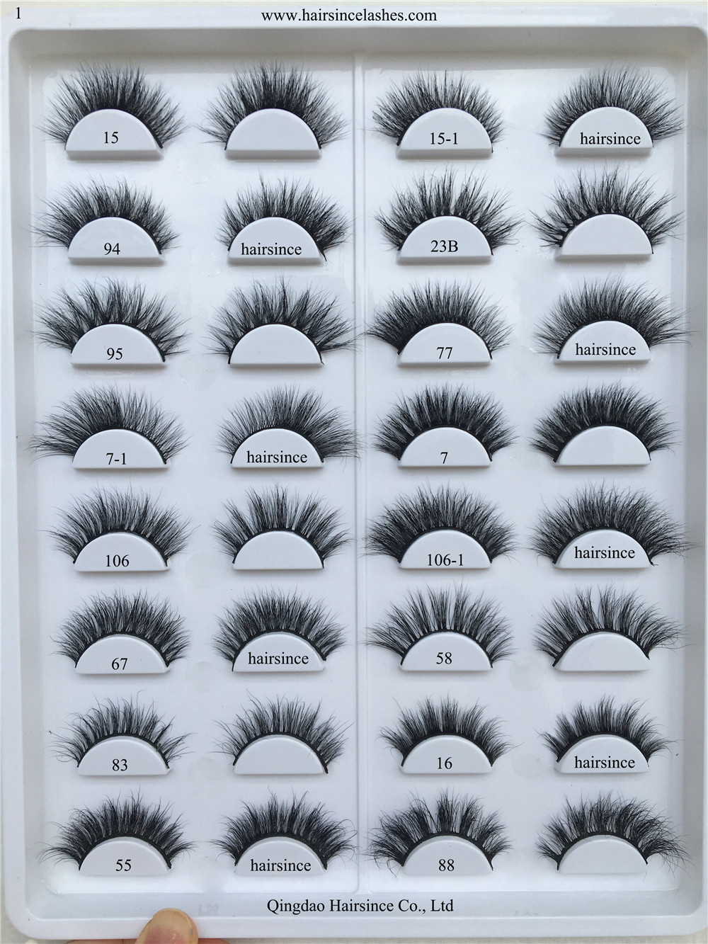 3D mink hair lashes catalog many styles mink lash for sale