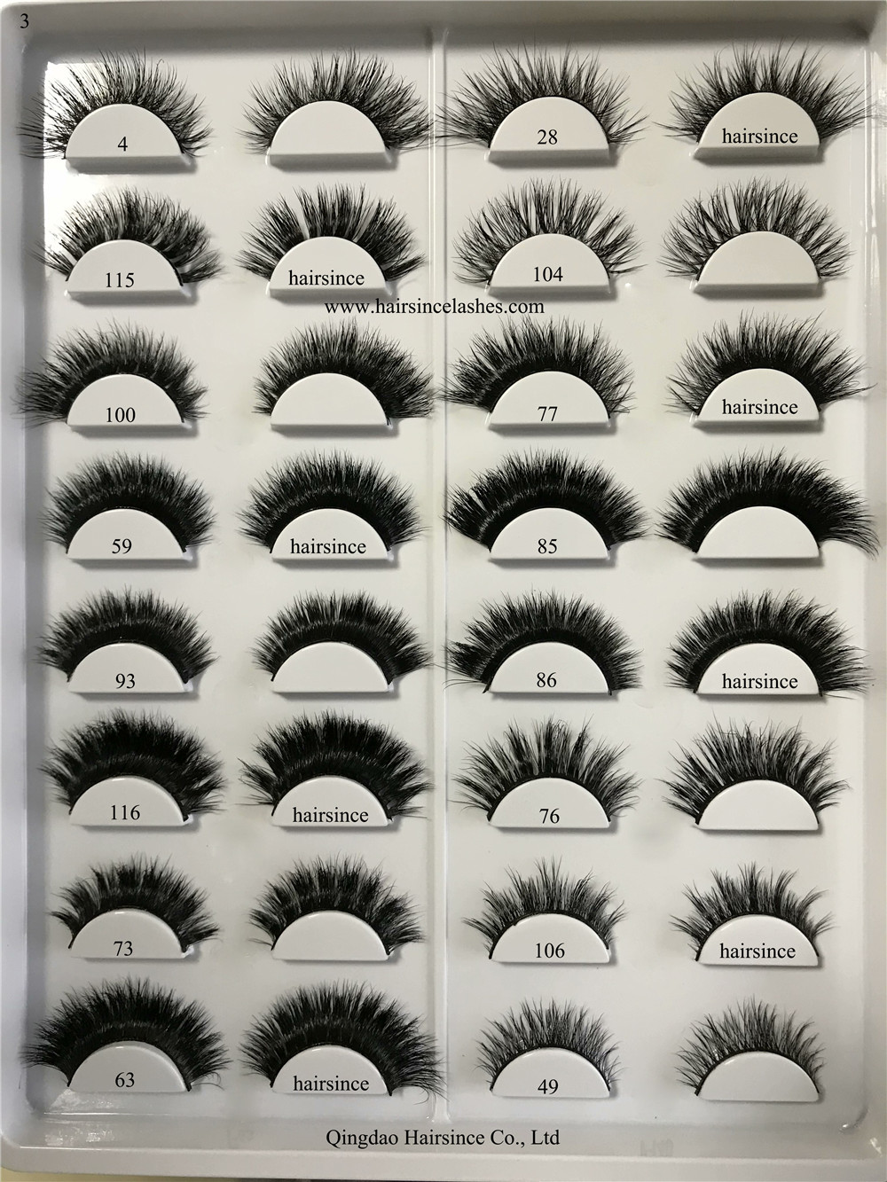 Full thick sexy mink hair lashes 3D styles lashes 100% mink fur lash without cruelty lashes on sale