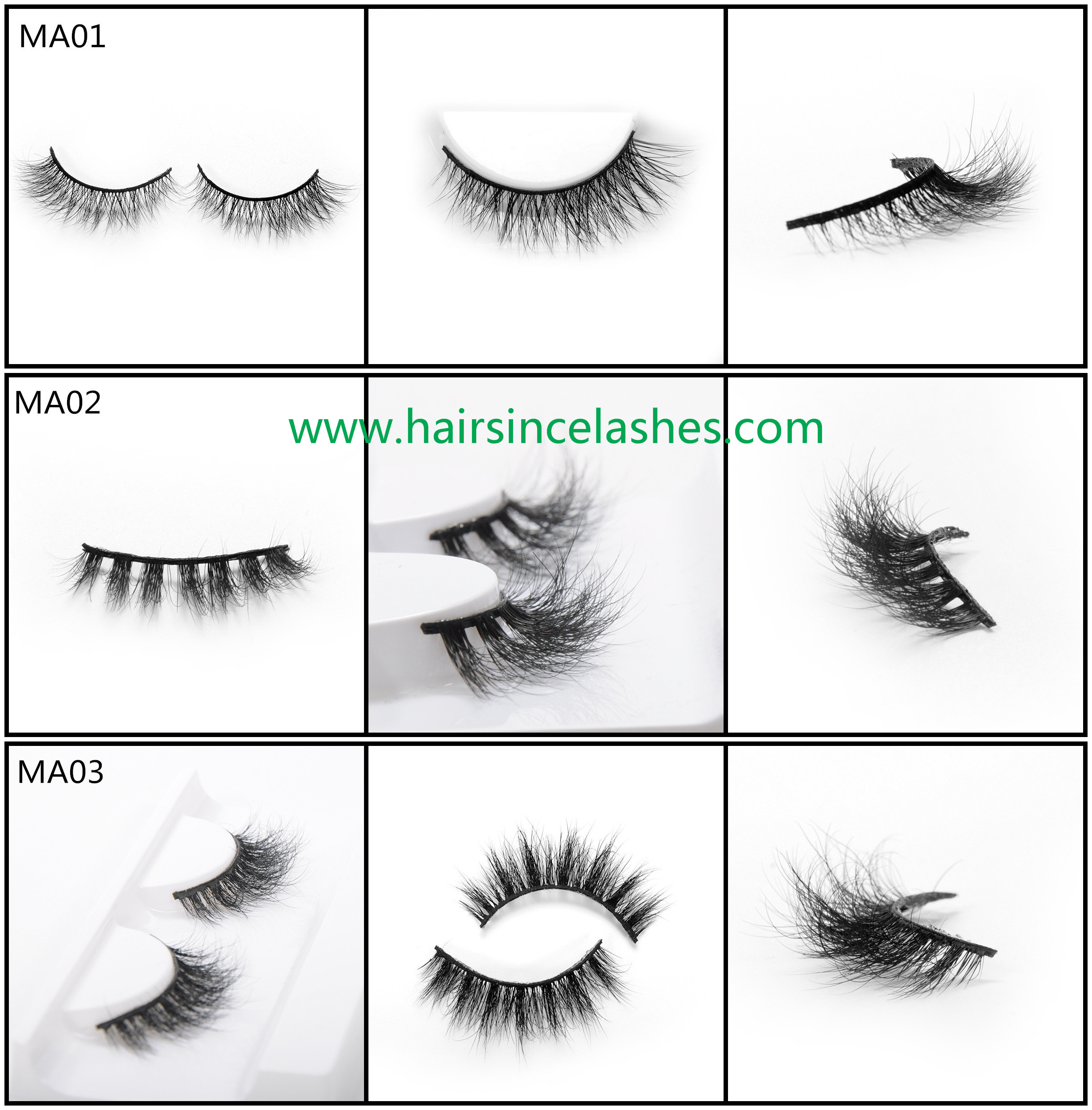 Mink hair lashes 3D styles catalog for choice wholesale price