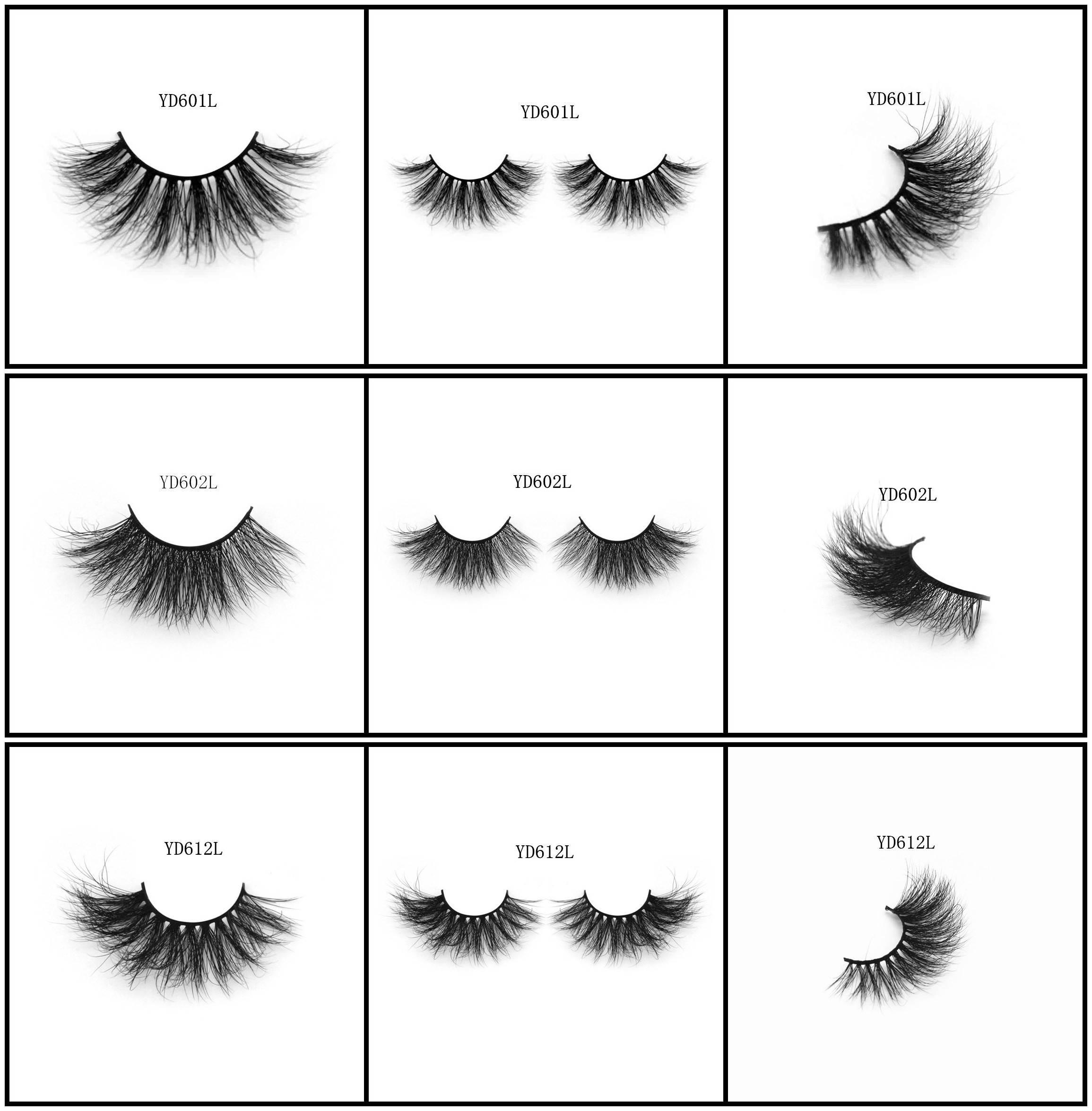 Long style mink hair lashes 3D style sexy curls with black cotton band on sales