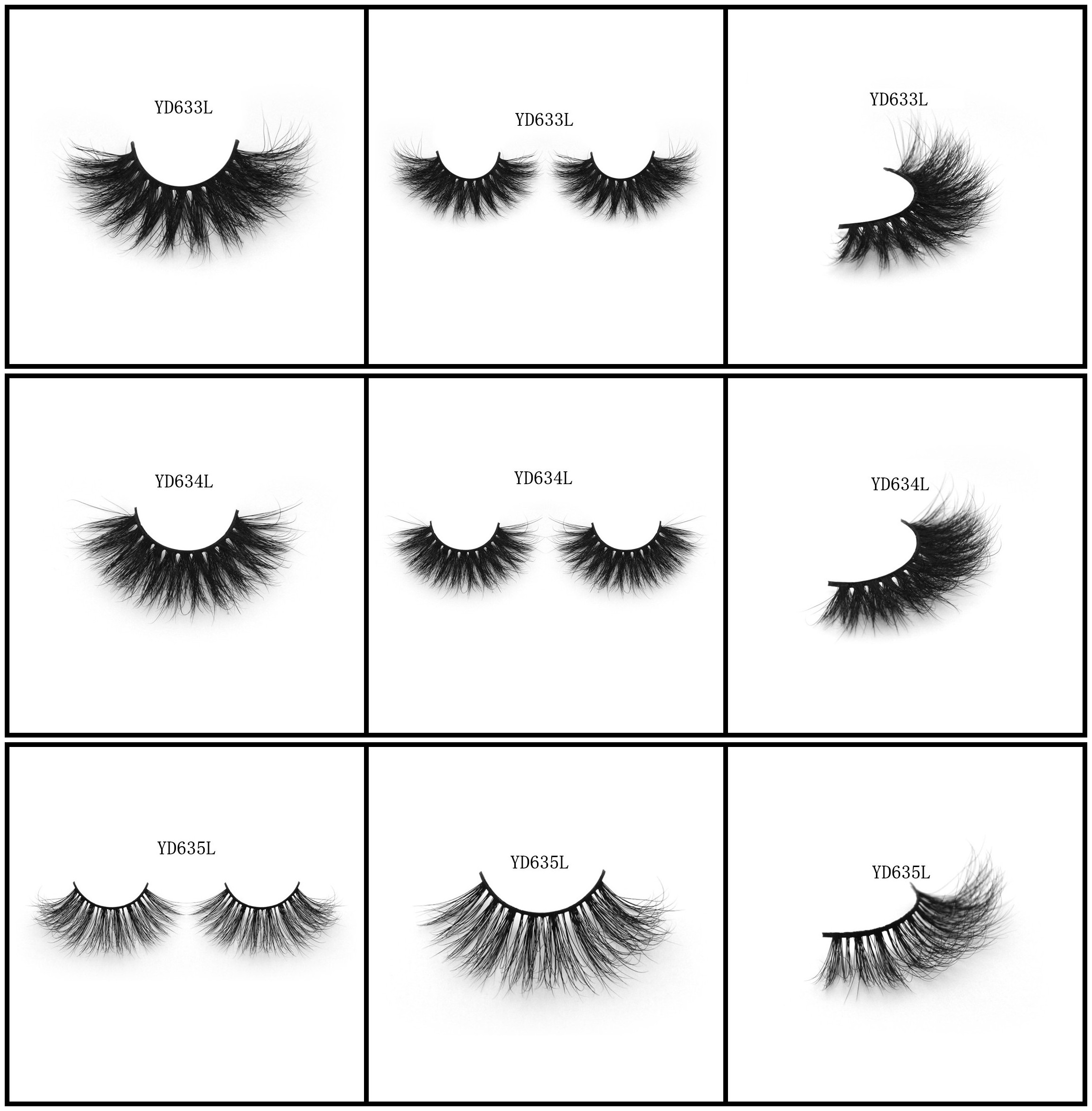 Quality mink hair lashes 3D long style natural style curls with amazing looks wholesale