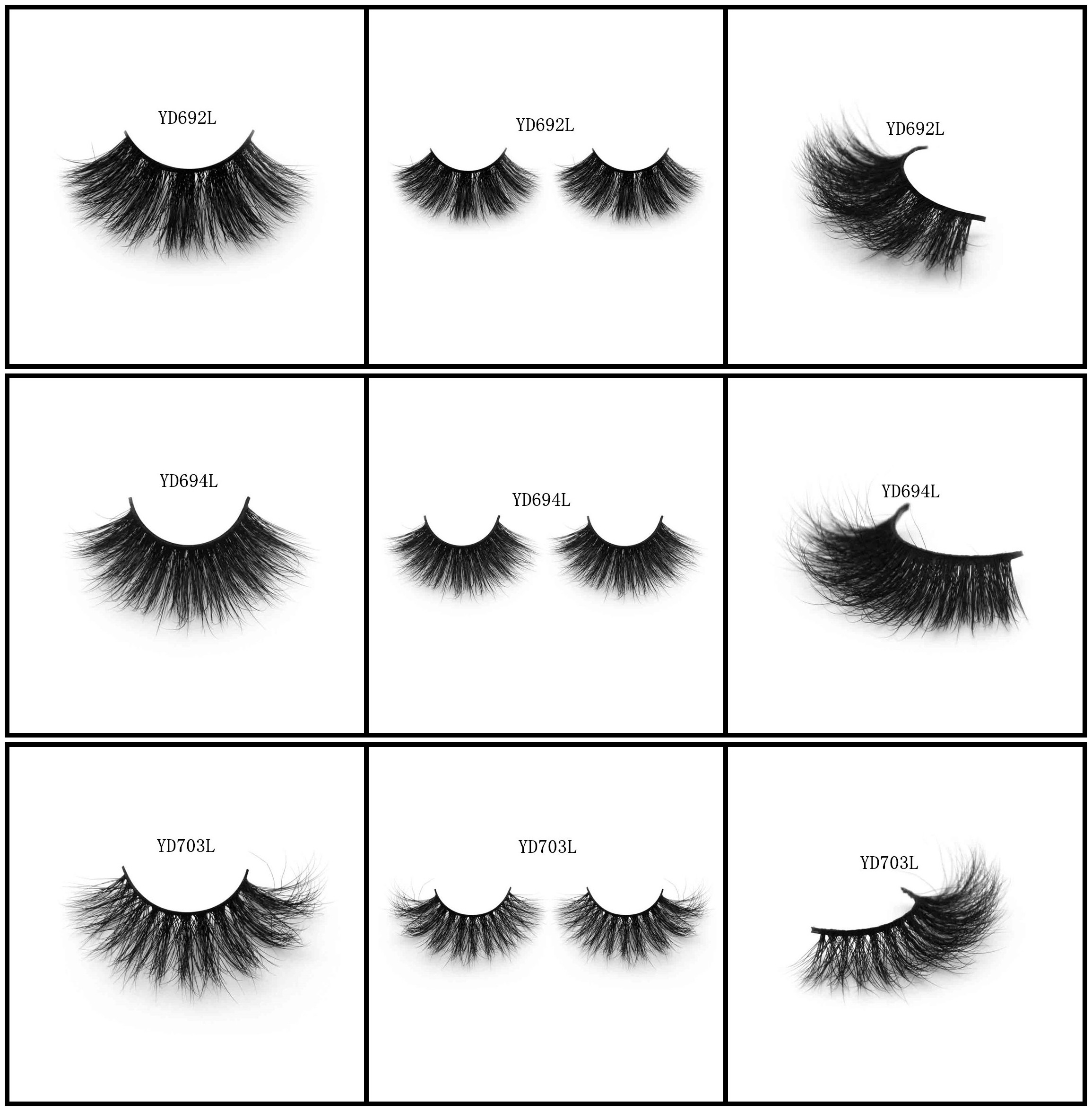 Long lashes for big eyes 3D mink hair lashes human hair lashes horse hair lashes wholesale from Aliexpress