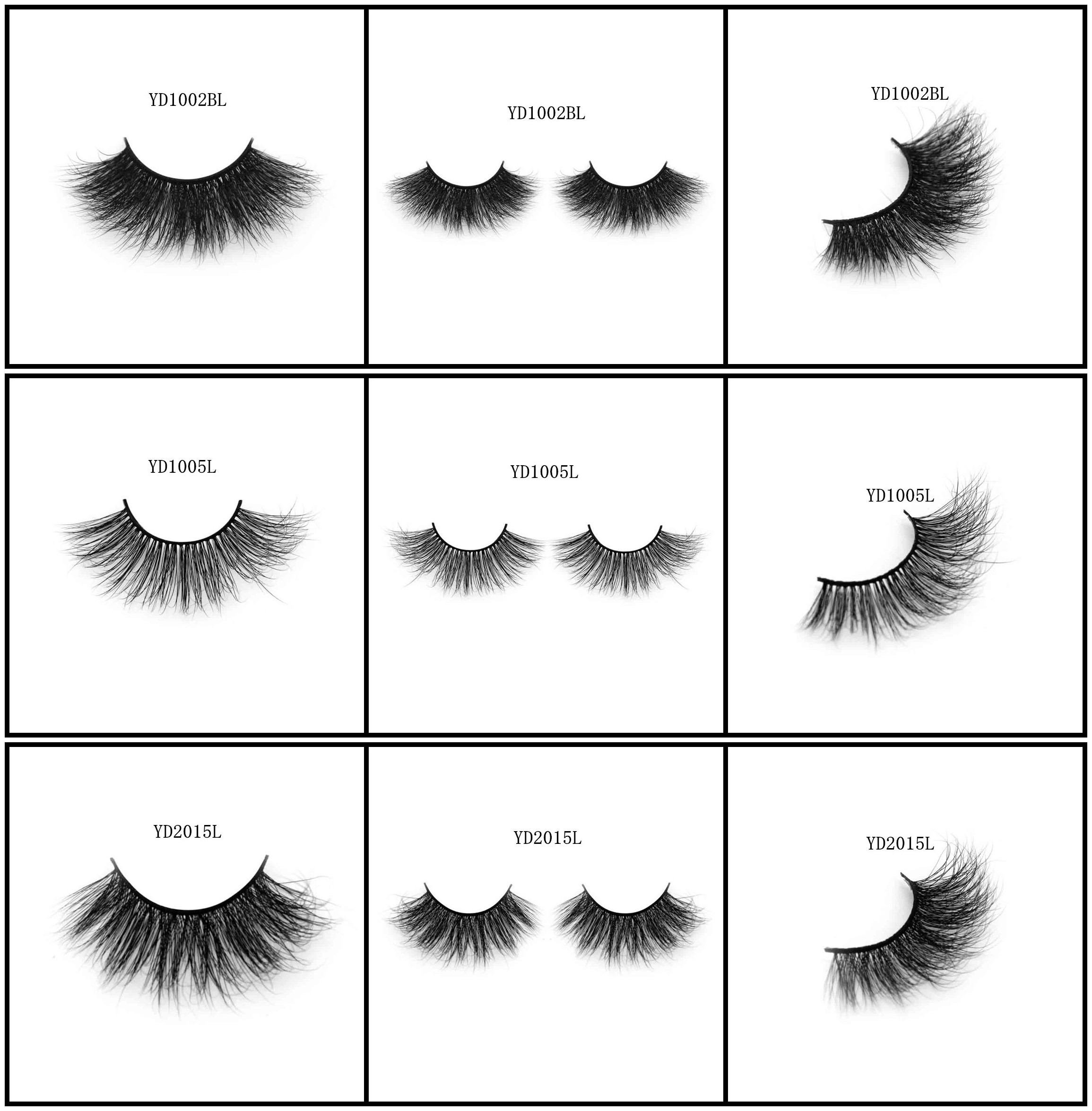 Our factory top quality mink hair lashes 3D long mink hair style on sale human hair lashes silk hair lashes available