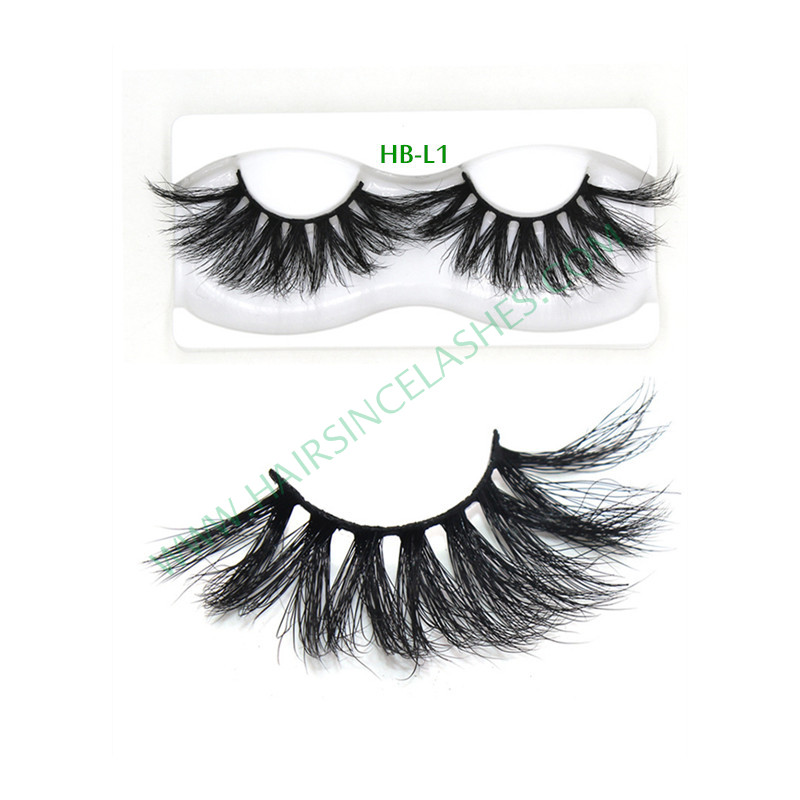 5D mink hair lashes catalog long mink hair 25mm natural curls for sale