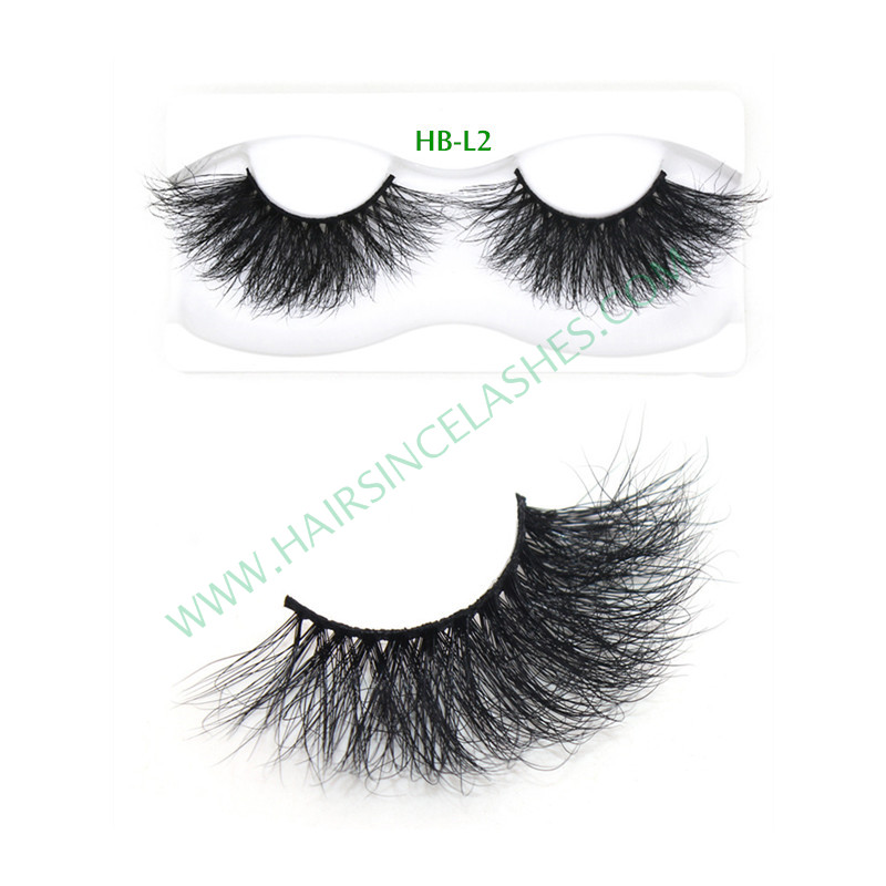 Factory supply 5D mink hair lashes long 25mm mink hair lashes on sale