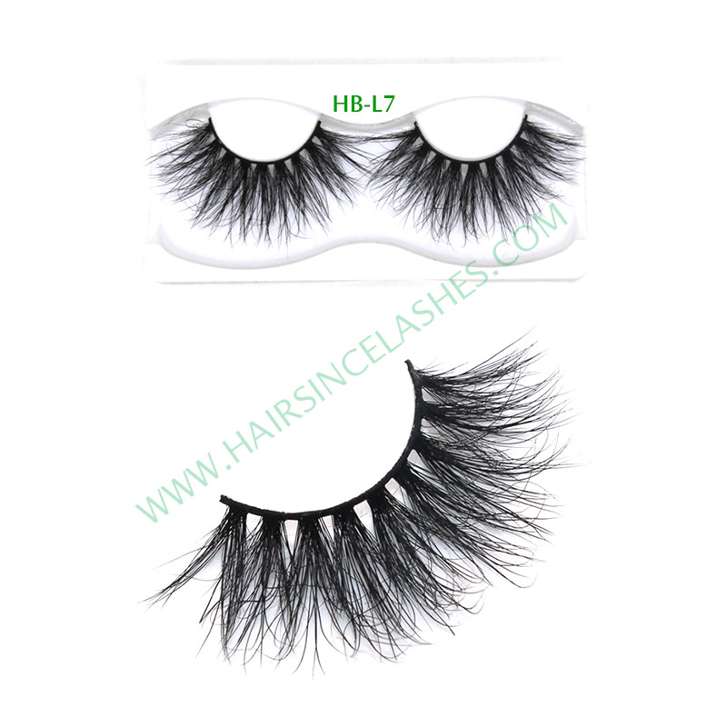 5D eyelashes long mink hair material for sale