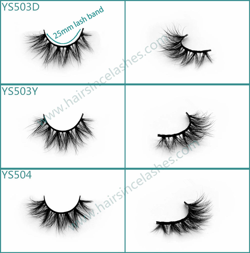 Small eyes mink hair lashes short band mink hair lashes factory supply