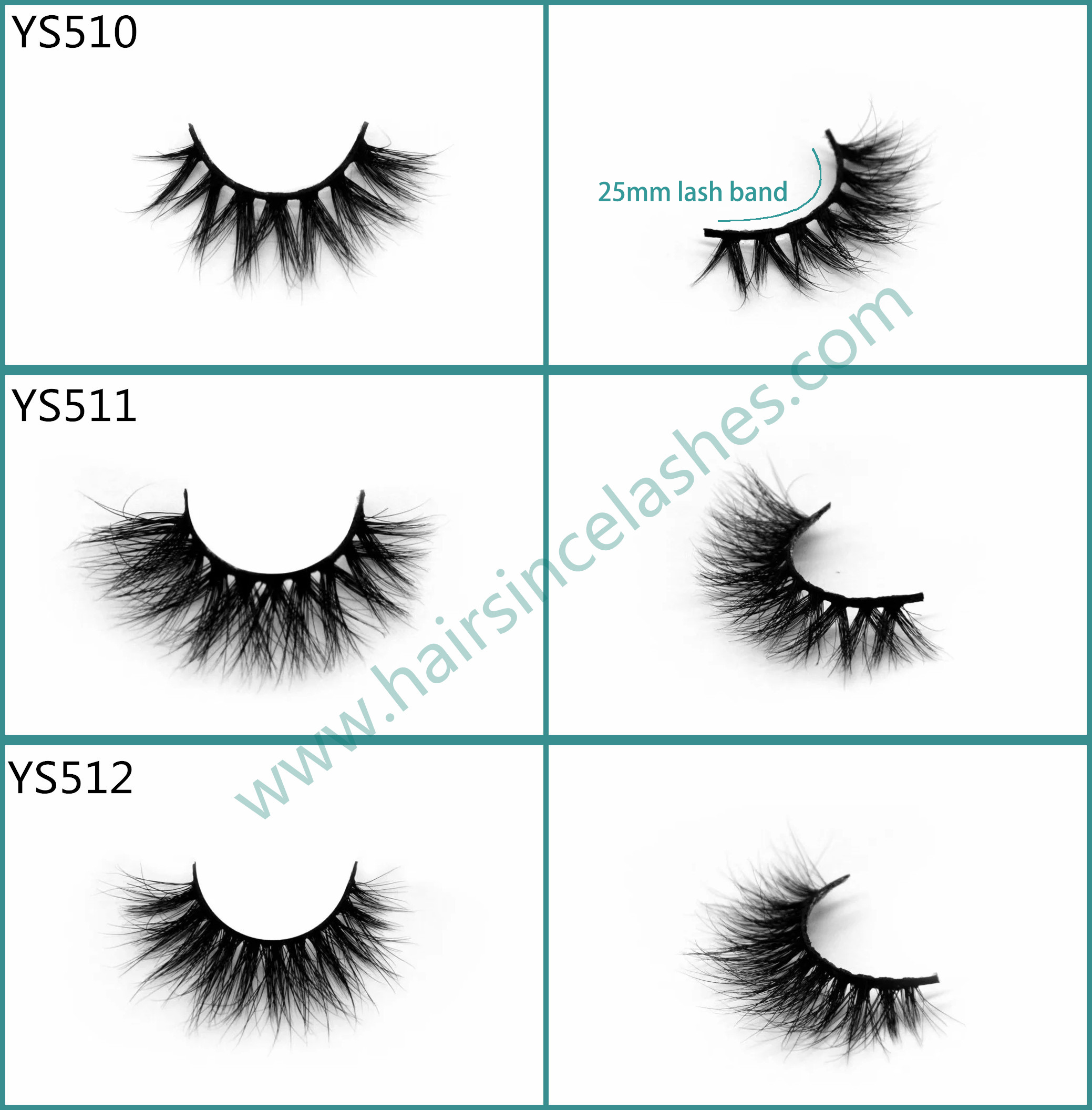 Ebay new popular 3D mink hair lashes natural curls 25mm cotton band for small eyes