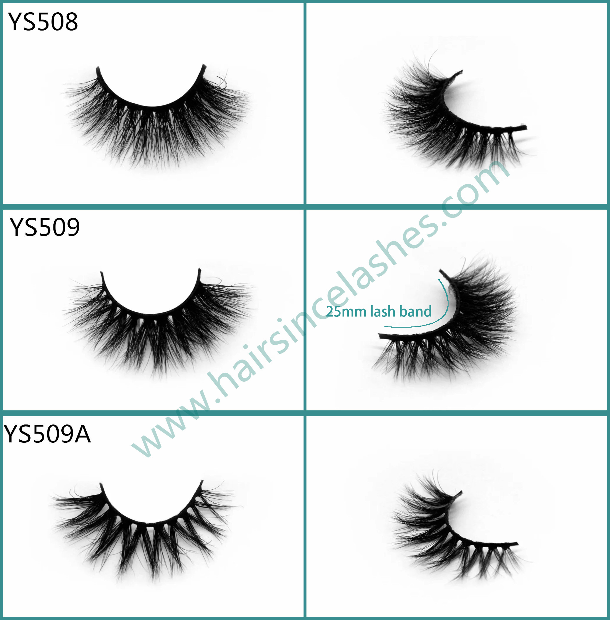 Good quality from Hairsince factory 3D mink hair lashes 25mm short lash band for small eyes