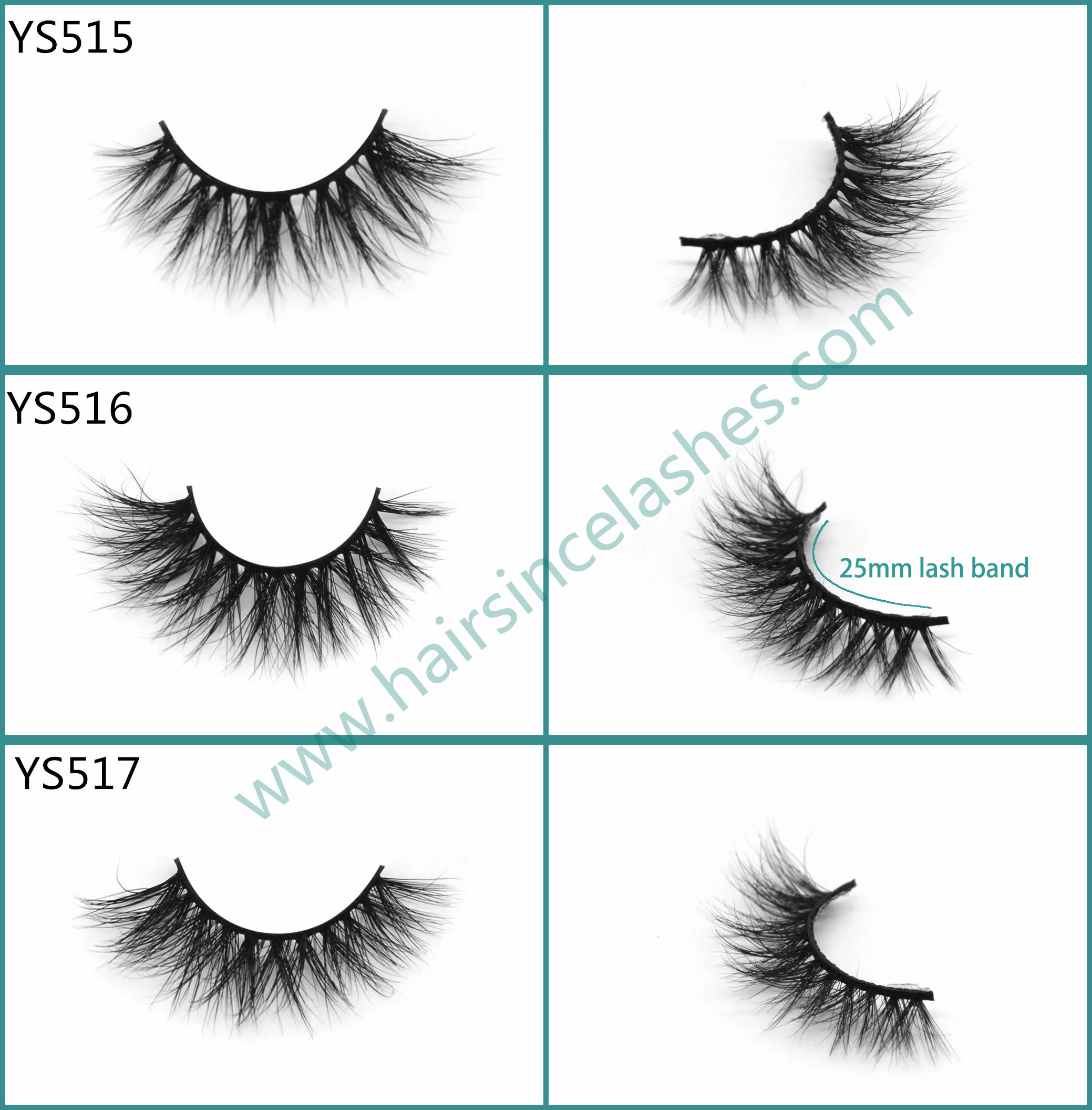 Alibaba mink hair lashes 3D styles short band natural curls wholesale price