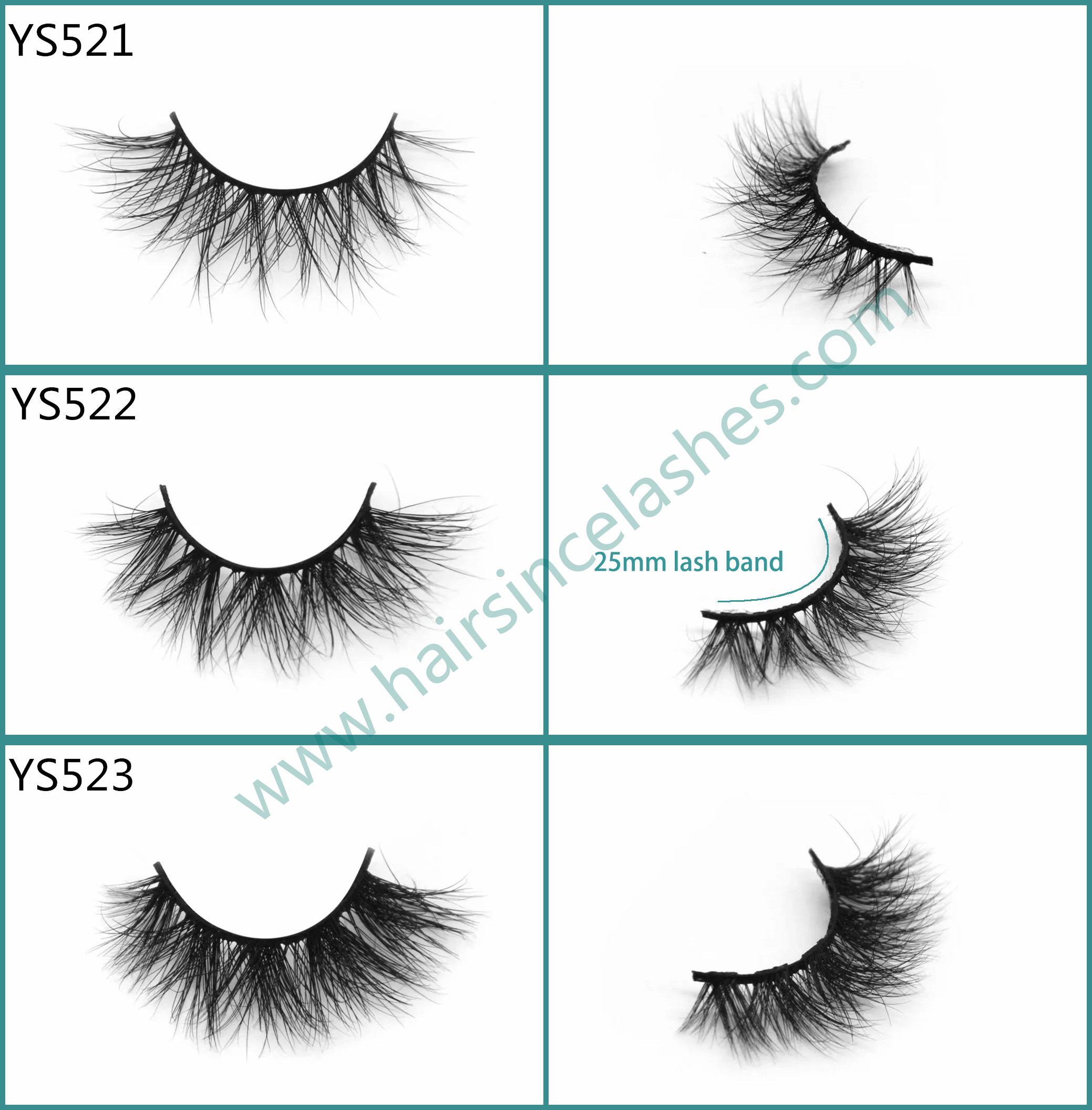 Wholesale price hot popular styles 3D mink hair lashes with short styles cotton band from factory
