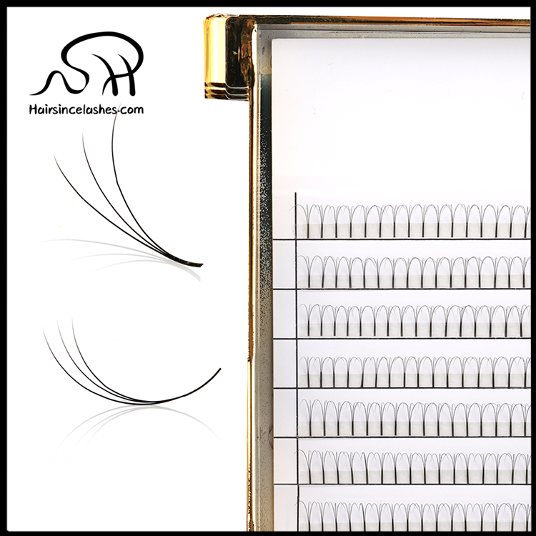 3D fanned lashes extensions products 0.07mm C curls with natural looks free sample