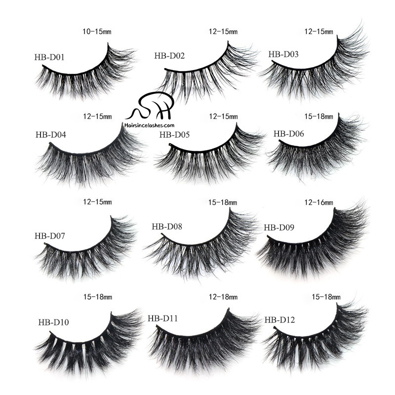 3D mink hair lashes free crulty with high quality wholesale price
