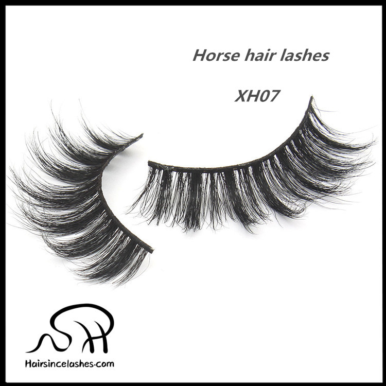 Elegant styles popular selling horse hair lashes natural curls reusable