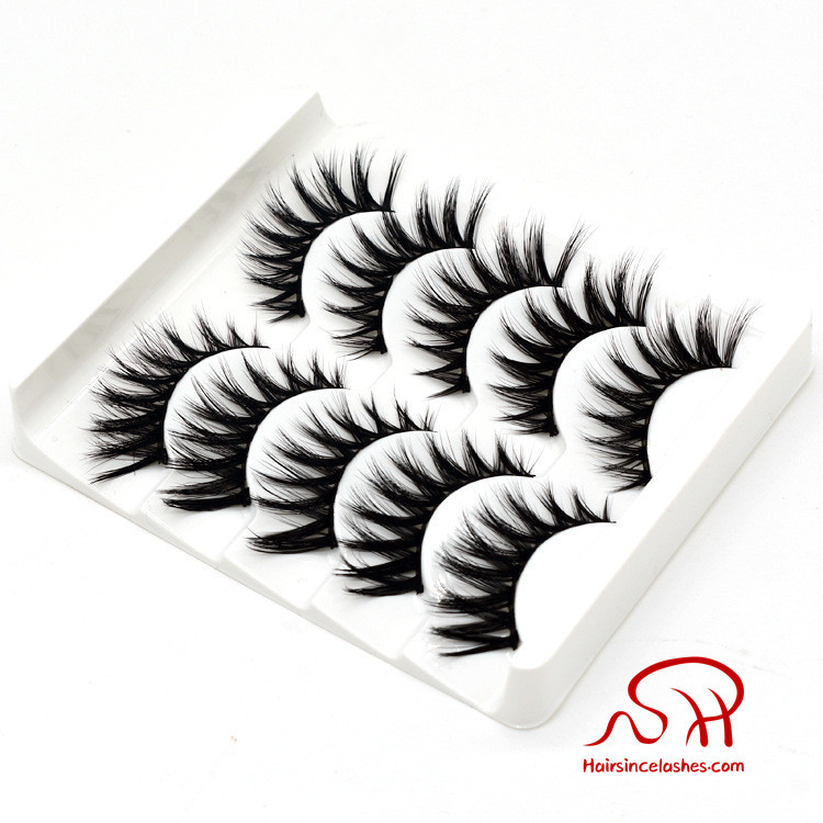 China Made 3D faux mink hair lashes natural long silk hair lashes wholesale