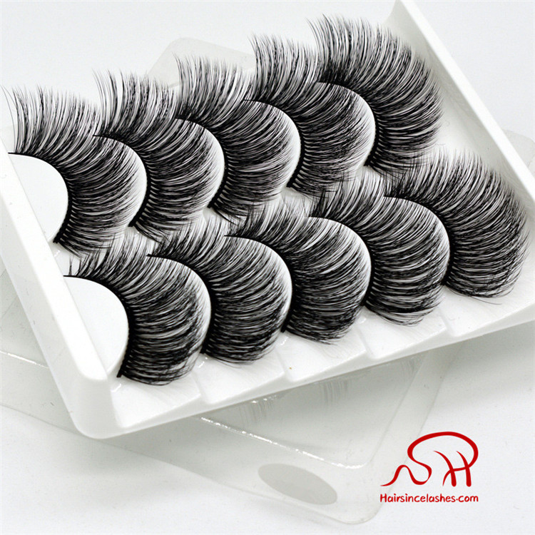 Free 5 pairs package silk hair lashes 3D styles fatory supplier