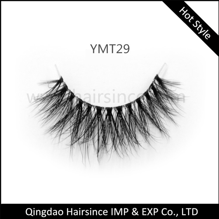Super quality 3D mink hair lashes fluffy style with clear band factory supply directly