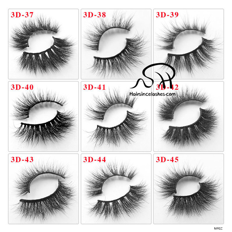 Wholesale price factory 3D mink hair lashes natural curls no cruelty
